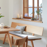 Holz- und Polsterbank Mirato