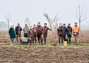 Grüne Erde-Welt – Agroforst Baumpflanzung LFS-Schlierbach